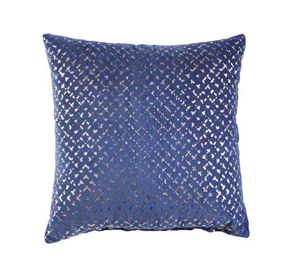 gold navy accent pillow