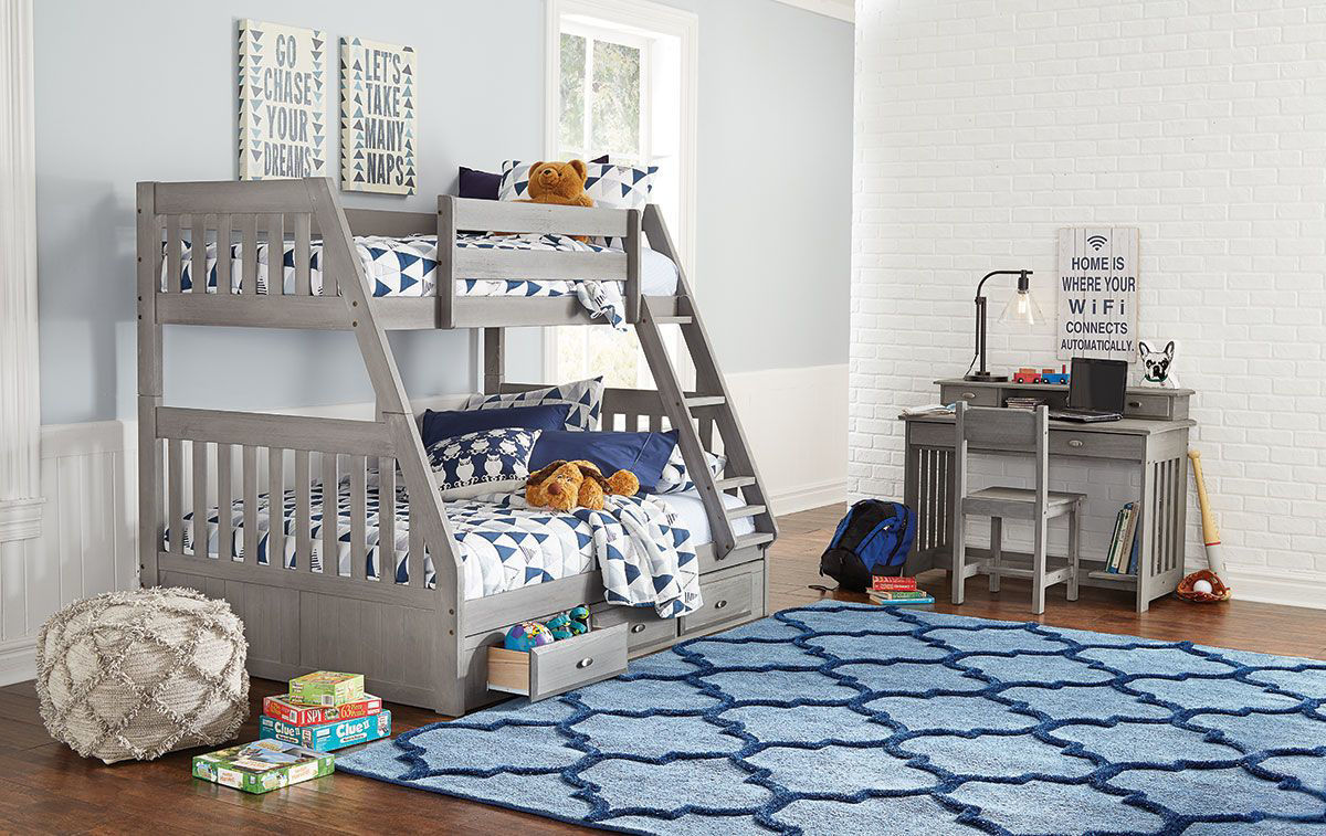 Greyson Complete Twin Full Bunk Bed Badcock Home Furniture More
