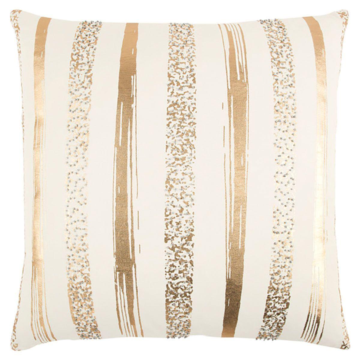 gold stripe throw pillow