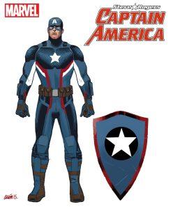 Captain America Steve Rogers, studi di Daniel Acuña 01