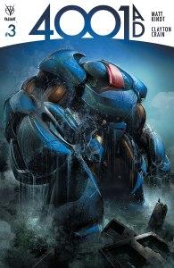 4001 AD #3, copertina di Clayton Crain