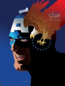 Captain America, copertina variant di Jim Steranko