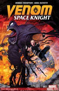 Venom: Space Knight #3, copertina di Ariel Olivetti
