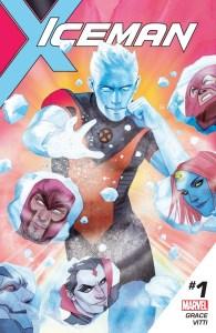 Iceman #1, copertina di Kevin Wada