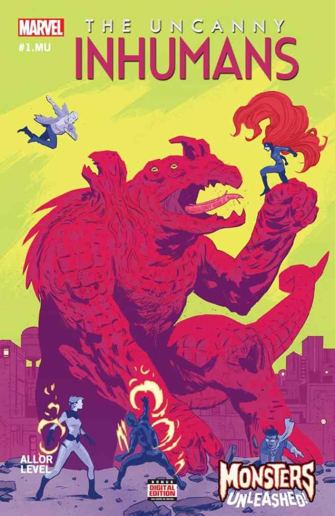 Uncanny Inhumans #1.MU, copertina di Michael Walsh