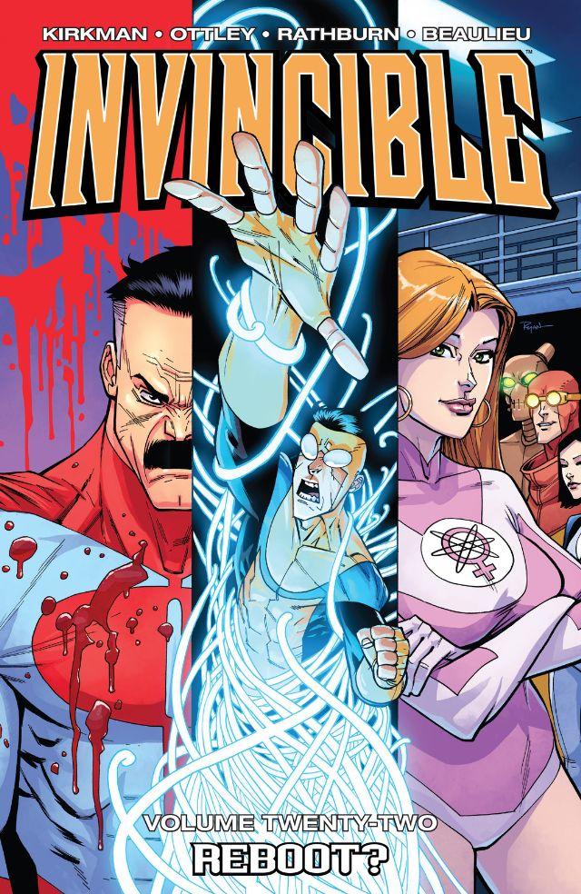 Invincible vol. 22: Reboot?, copertina di Ryan Ottley