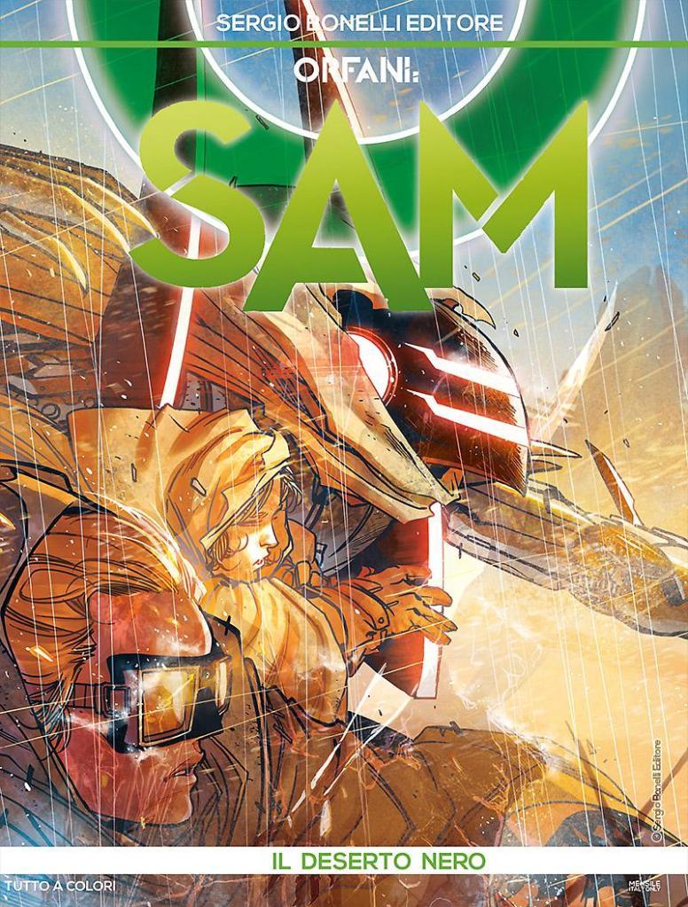 Orfani - Sam 3: Il deserto nero, copertina di Carmine Di Giandomenico