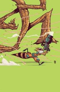 Rocket Raccoon & Groot #3, copertina di Skottie Young