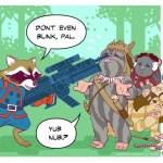 Rocket Raccoon e gli Ewok