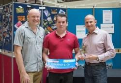 Winner Craig Gorham with Baddow Camera Club Chairman Richard Huckett and Camera World MD Jason Mitchell