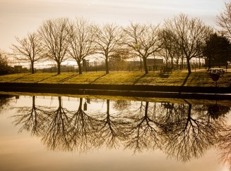 Reflections in a boating lake - Tony Curd 2016