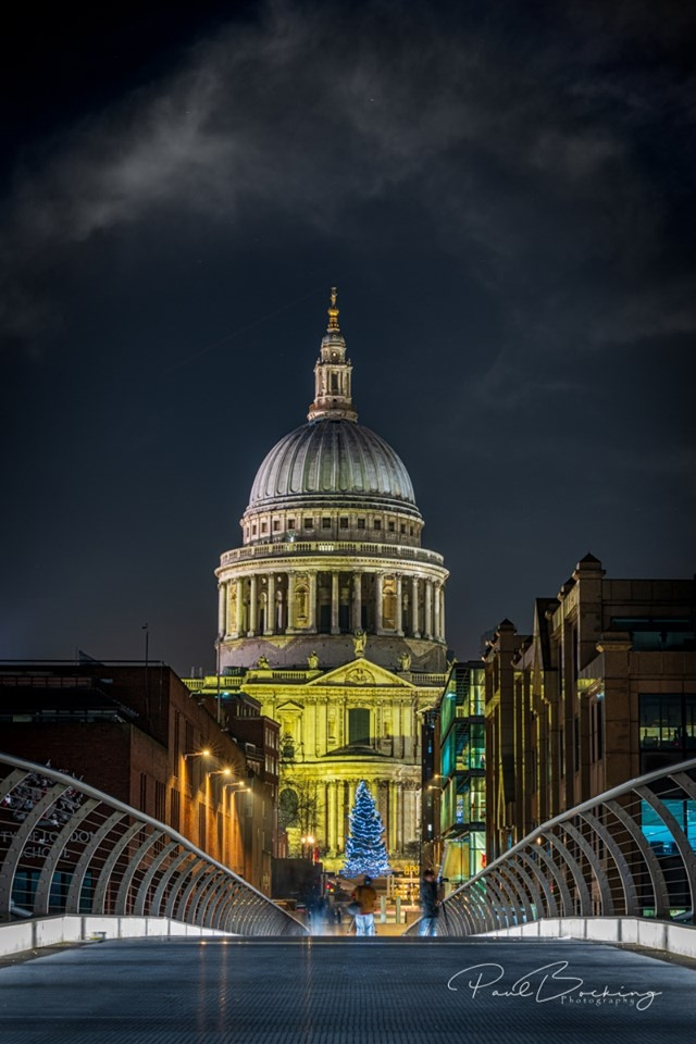 St Pauls at Night, Paul Bocking Baddow Camera Club