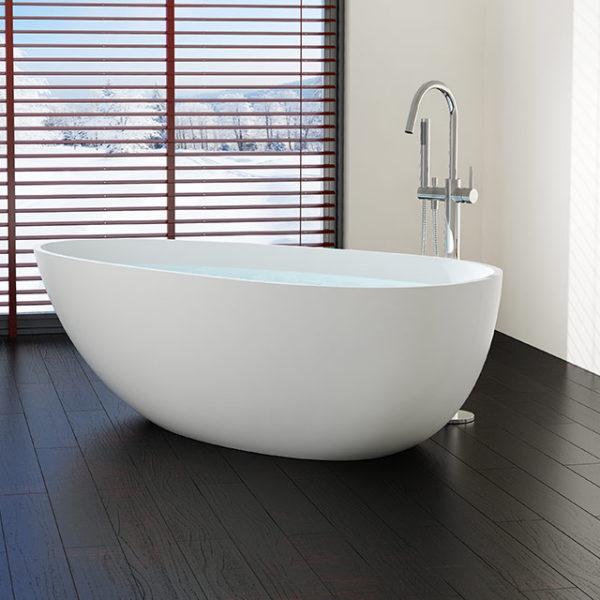 Large Freestanding Bathtub Model BW 01 XL Badeloft USA