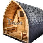 Utendørs hage badstue med elektrisk eller vedfyrt ovn Harvia for salg