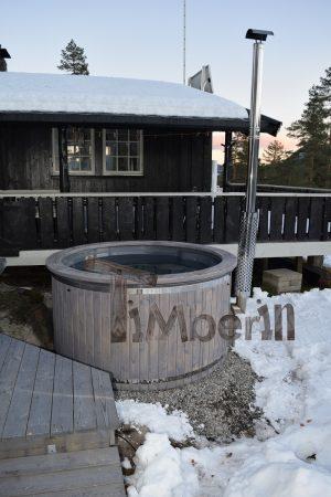 Badestamp i glassfiber med integrert ovn termo tre Wellness Royal, Gunnar Bjøru, Kongsberg, NORWAY