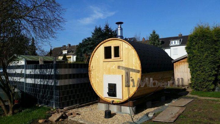 Fasssauna 3M Fichte Mit Holzofen Und Vorraum, Peter, Euskirchen, Deutschland (4)