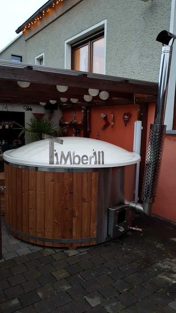 Badefass Gfk Thermoholz Mit Integriertem Ofen Wellness Royal, Hartmut, Kemberg, Deutschland