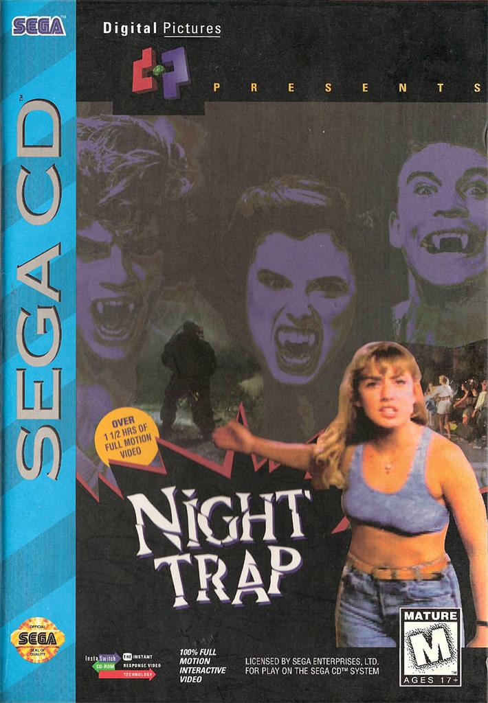best SEGA CD games - Night Trap game case sega cd