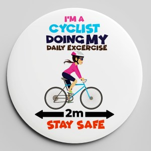 CYCLIST FEMALE BADGE