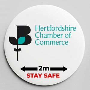 SAINSBURY'S AND HERTSMERE COUNCIL BADGE