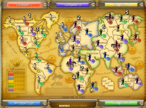Risk 24 Territories Screenshot