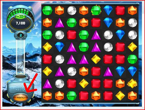 Bejeweled Twist - Fruit Gems - Click Menu