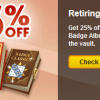 Retiring: 3 Premium Badge Albums + Sale!