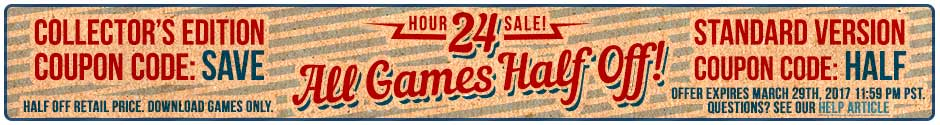 24 Hour Sale: All Games are Half Off!