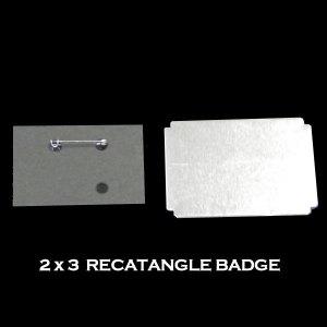 2x3 Rectangle Badge