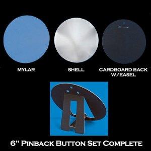 "6"" Pinback Set Complete"