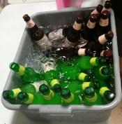 Beer Chilling in Tub