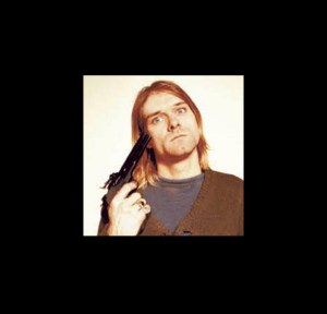 kurt cobain with gun