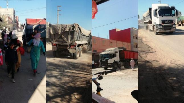 """مواطنون يشتكون من أضرار """"مقلع للرّمال"""" بواد سوس"""