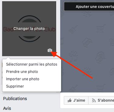 Changer la photo de profil