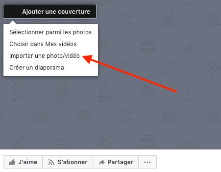 Importer une photo vidéo