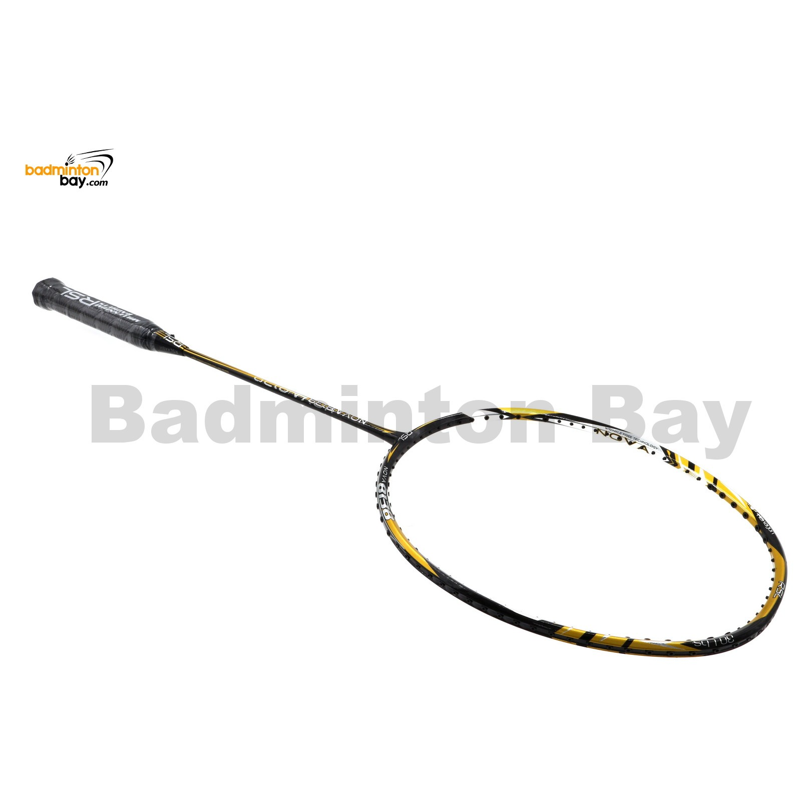 Rsl Nova Black Gold Badminton Racket 5u G5