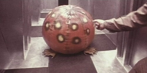 The monster = scariest beach ball ever.