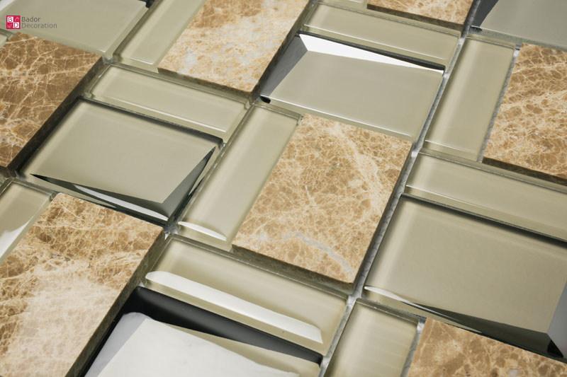 details sur pate de verre marbre mosaique carrelage beige creme salle bains wc 30x30 cm neuf