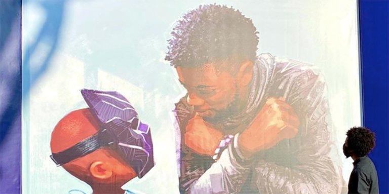 Chadwick Boseman murale