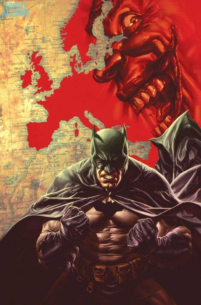 Batman Europa Uncut 1, copertina variant di Lee Bermejo
