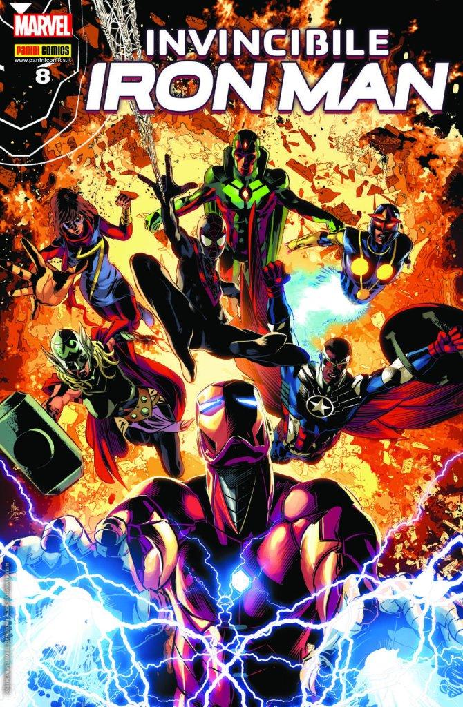 Invincibile Iron Man 8, copertina di Mike Deodato Jr.