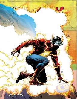 The Flash #22, copertina variant lenticolare di Jason Fabok