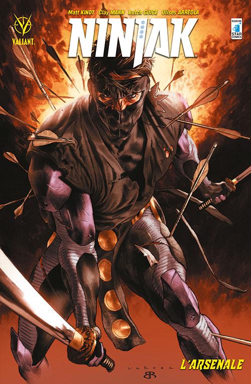 Ninjak vol. 1: L'Arsenale, copertina di Lewis LaRosa e Brian Reber