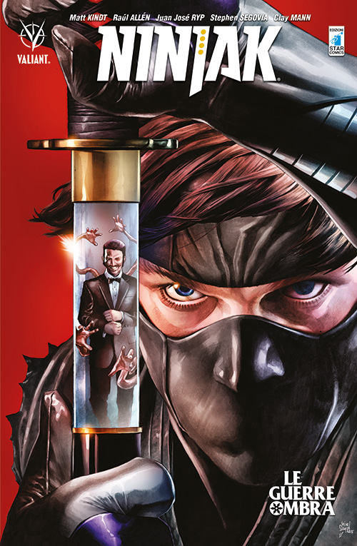 Ninjak vol. 2: Le Guerre Ombra, copertina di Mico Suayan e Ulises Arreola