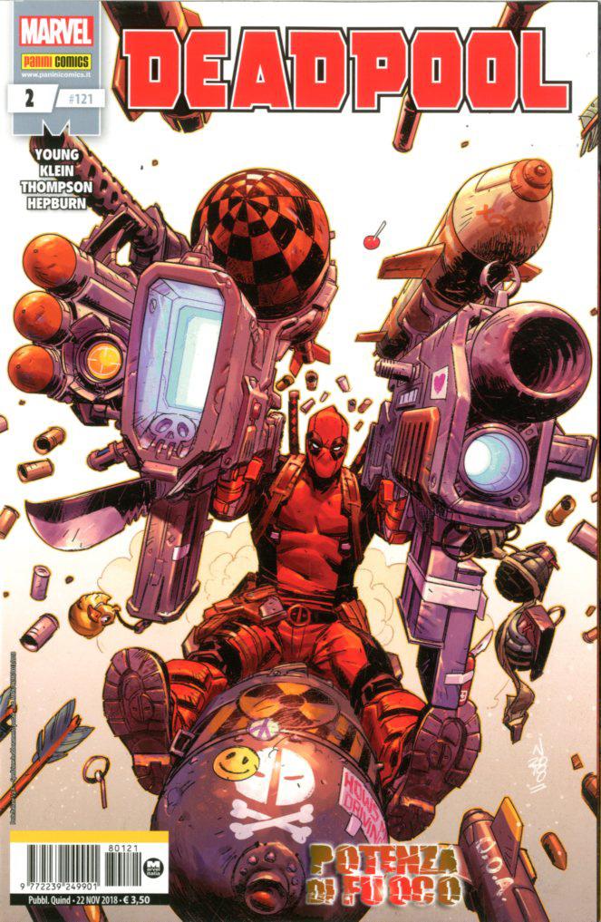 Deadpool 2, copertina di Nic Klein