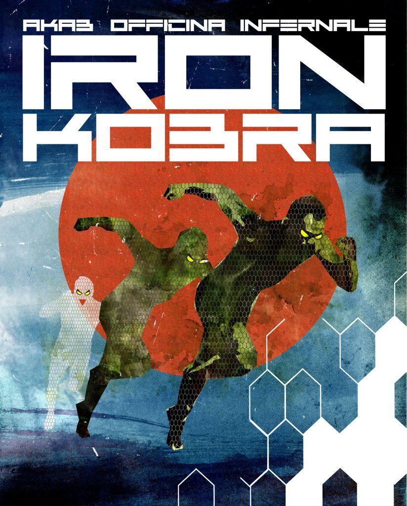 Iron Kobra, copertina di Officina Infernale
