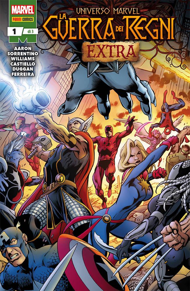 Universo Marvel: La Guerra dei Regni Extra 1, copertina di Alan Davis