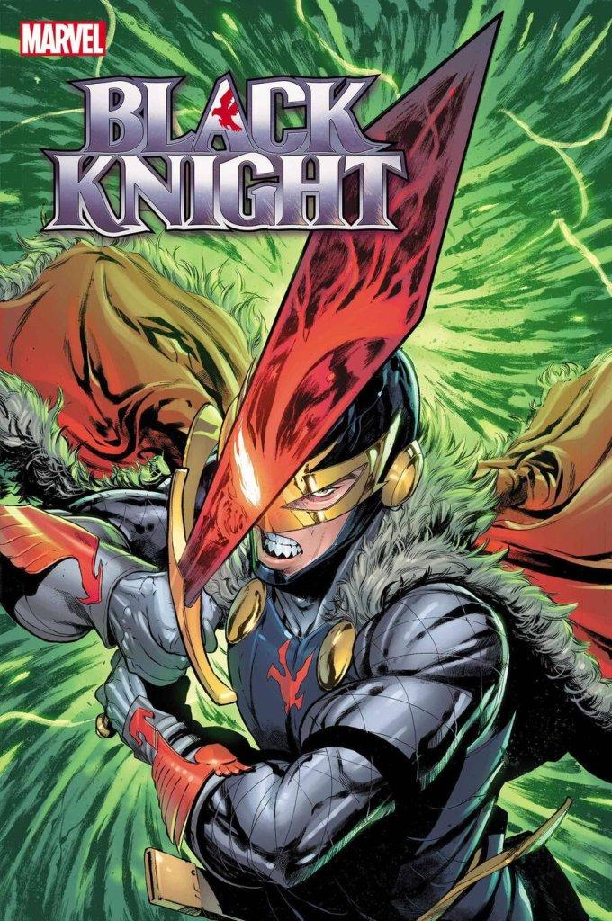 Black Knight: Curse of the Ebony Blade #1, copertina di Sergio Davila