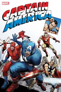 Captain America Tribute #1, copertina di Steve McNiven