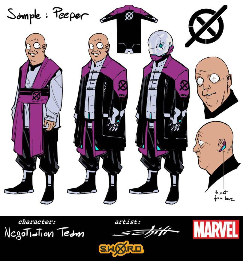 S.W.O.R.D.: Peeper, character design di Valerio Schiti